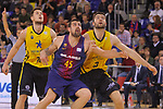 League ACB-ENDESA 2017/2018 - Game: 11.<br /> FC Barcelona Lassa vs Iberostar Tenerife: 91-93.<br /> Mateusz Ponitka, Adrien Moerman &amp; Mike Tobey.