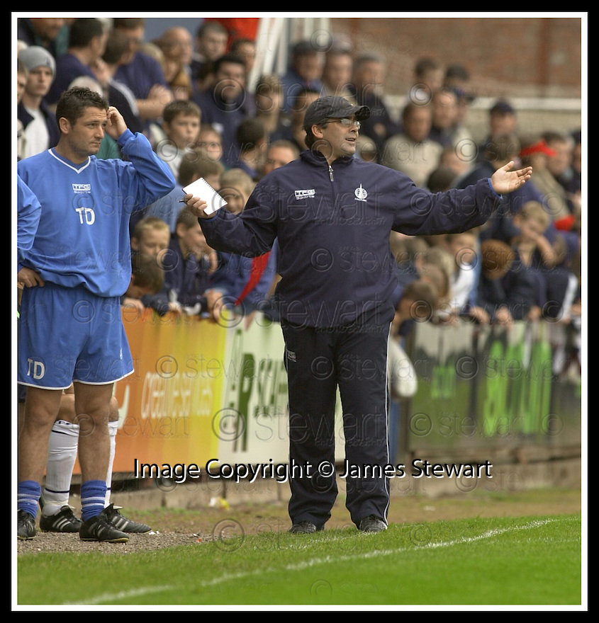 28/9/02       Copyright Pic : James Stewart                     .File Name : stewart-falkirk v st j'stone 16.FALKIRK'S MANAGER IAN MCCALL TRIES TO GET HIS POINT OVER....James Stewart Photo Agency, 19 Carronlea Drive, Falkirk. FK2 8DN      Vat Reg No. 607 6932 25.Office : +44 (0)1324 570906     .Mobile : + 44 (0)7721 416997.Fax     :  +44 (0)1324 570906.E-mail : jim@jspa.co.uk.If you require further information then contact Jim Stewart on any of the numbers above.........