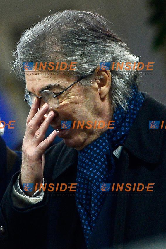 Massimo Moratti Inter<br /> Milano 09-02-2014 Stadio Giuseppe Meazza - Football 2013/2014 Serie A. Inter - Sassuolo Foto Giuseppe Celeste / Insidefoto