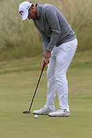 Matthew Nixon (ENG) putts on the 2nd green during Saturday's Round 3 of the 2018 Dubai Duty Free Irish Open, held at Ballyliffin Golf Club, Ireland. 7th July 2018.<br /> Picture: Eoin Clarke | Golffile<br /> <br /> <br /> All photos usage must carry mandatory copyright credit (&copy; Golffile | Eoin Clarke)