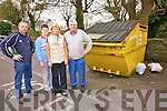 Ref Sinead..Concerns over the level of fly dumping and the unsightly appearance of the recycling bins at the Cahersiveen Car Park recycling station, pictured here l-r; Kevin O'Leary, Mary Donnelly, Sadie Curran & Kieran McCarthy.