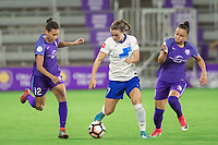 Orlando, FL - Saturday June 03, 2017: Kristen Edmonds, Emilie Haavi, Camila during a regular season National Women's Soccer League (NWSL) match between the Orlando Pride and the Boston Breakers at Orlando City Stadium.