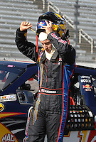 Mar 30, 2007; Martinsville, VA, USA; Nascar Nextel Cup Series driver A.J. Allmendinger (84) during qualifying for the Goody's Cool Orange 500 at Martinsville Speedway. Martinsville marks the second race for the new car of tomorrow. Mandatory Credit: Mark J. Rebilas.