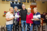 Tea Party: Maggie Hayes presenting the proceeds of the Tea Party in aid of Recovery Haven at the Hibernian Bar, Ballybunion on Sunday afternoon last to Recovery Haven user Helen Lynch. Also in picture are Garret Tobin, Bridie Chute & Anne Marie Tydings.
