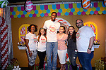"MIAMI, FL - DECEMBER 20: Trinity Bosh, Chris Bosh and Adrienne Williams Bosh attends The 5th Annual ""Christmas with Chris Bosh"" in Santa Bosh's Workshop and 200 Miami-area youth at Game Time at The Shops At Sunset Placel on Saturday, December 20, 2014 in Miami, Florida. (Photo by Johnny Louis/jlnphotography.com)"