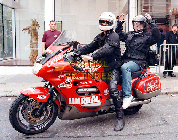 DANNY BAKER.Outside The Studios Of TFi Friday.Ref: ZED.paparazzi pix, full length, full-length, red motorbike, helmet.www.capitalpictures.com .sales@capitalpictures.com.©Capital Pictures..