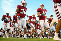 The team during Stanford's 63-26 win over San Jose State on September 14, 2002 at Stanford Stadium.<br />Photo credit mandatory: Gonzalesphoto.com
