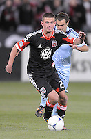 D.C. United midfielder Perry Kitchen (23) Sporting Kansas City defeated D.C. United  1-0 at RFK Stadium, Saturday March 10, 2012.