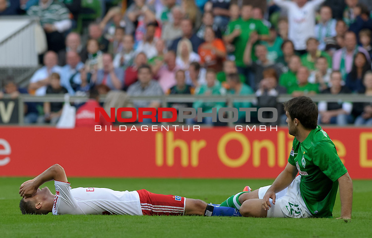 01.09.2012, Weserstadion, Bremen, GER, 1.FBL, Werder Bremen vs Hamburger SV, im Bild Ivo Ilicevic (Hamburg #11), Sokratis (Bremen #22)<br /> <br /> // during the match Werder Bremen vs Hamburger SV on 2012/09/01, Weserstadion, Bremen, Germany.<br /> Foto &copy; nph / Frisch *** Local Caption ***