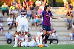 FC Barcelona vs Montpellier HSC: 1-2.<br /> Anouk Dekker, Janice Cayman &amp; Andressa Alves.
