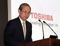May 15, 2017, Tokyo, Japan - Japan's electronics giant Toshiba president Satoshi Tsunakawa announces the company's financial result ended March 31 at the Toshiba headquarters in Tokyo on Monday, May 15, 2017. Toshiba estimated net loss of 950 billion yen and 540 billion yen negative net worth at the end of March.   (Photo by Yoshio Tsunoda/AFLO) LwX -ytd-