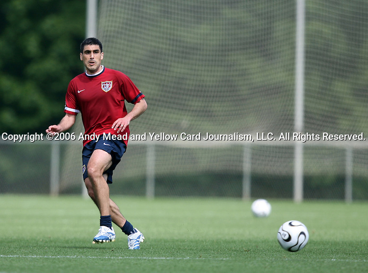Claudio Reyna on Sunday, May 14th, 2006 at SAS Soccer Park in Cary, North Carolina. The United States Men's National Soccer Team held a training session as part of their preparations for the upcoming 2006 FIFA World Cup Finals being held in Germany.