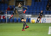 1st December 2017, Cardiff City Stadium, Cardiff, Wales; EFL Championship Football, Cardiff City versus Norwich City; Angus Gunn of Norwich City clears the ball upfield