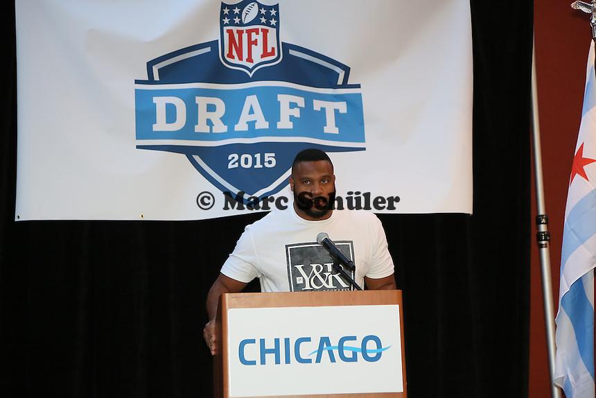 LB Lance Briggs (Chicago Bears) - Draft Pressekonferenz, Sheraton Downtown Phoenix Hotel