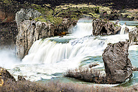 The magnificence of Shoshone Falls at high water.  Once ever decade or two the reservoirs fill and this waterfall reaches its full potential. This waterfall is in Twin Falls Idaho.