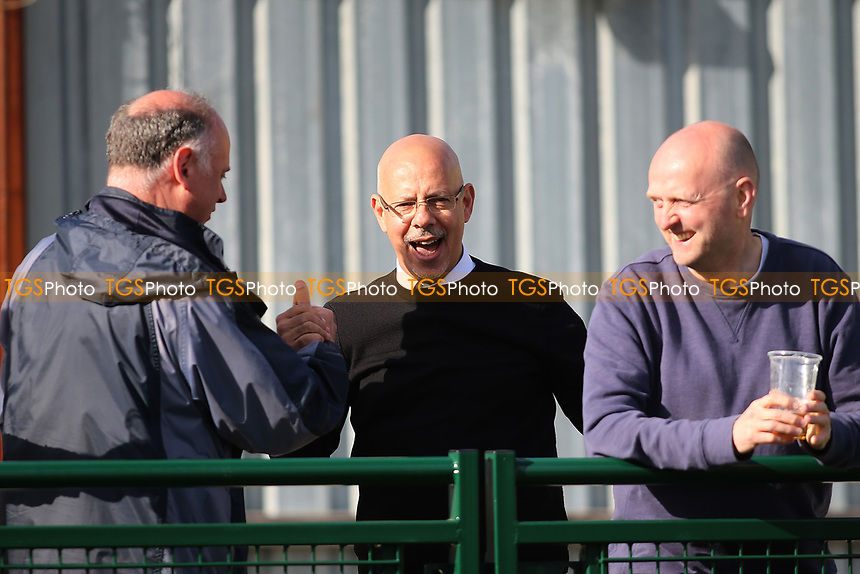 Achie Achilleas chairman of Haringey celebrates at the final whistle during Haringey Borough vs Bowers & Pitsea, Ryman League Division 1 North Football at Coles Park Stadium on 15th April 2017