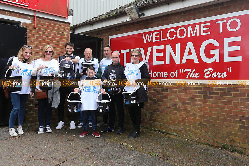 Collectors for Prostrate Cancer UK during Stevenage vs Barnet, Sky Bet EFL League 2 Football at the Lamex Stadium on 1st April 2017