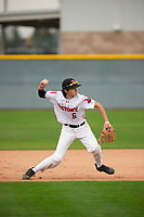 Matthew Palomino (6) of Sacred Heart Cathedral Prep High School in San Francisco, California during the Under Armour All-American Pre-Season Tournament presented by Baseball Factory on January 15, 2017 at Sloan Park in Mesa, Arizona.  (Zac Lucy/MJP/Four Seam Images)