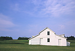 White barn in St. Agathe, Maine, USA
