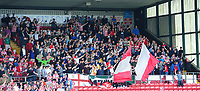 Lincoln City fans enjoy the pre-match atmosphere <br /> <br /> Photographer Chris Vaughan/CameraSport<br /> <br /> The EFL Sky Bet League Two - Lincoln City v Morecambe - Saturday August 12th 2017 - Sincil Bank - Lincoln<br /> <br /> World Copyright &copy; 2017 CameraSport. All rights reserved. 43 Linden Ave. Countesthorpe. Leicester. England. LE8 5PG - Tel: +44 (0) 116 277 4147 - admin@camerasport.com - www.camerasport.com