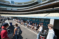 Photo from OxyEngage 2011, Dodger Stadium tour. Hosted by Occidental College's Office of Student Life, the program is for incoming students. August 25, 2011. (Photo by Marc Campos, Occidental College Photographer)