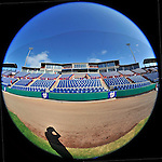 4 March 2011: A fisheye view of Space Coast Stadium  prior to Spring Training action between the Washington Nationals and the Atlanta Braves at Space Coast Stadium in Viera, Florida. The Braves defeated the Nationals 6-4 in Grapefruit League action. Mandatory Credit: Ed Wolfstein Photo