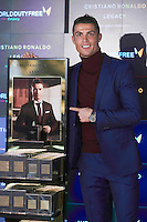 """03 March 2016 - Madrid, Spain - Cristiano Ronaldo during the launch of his fragrance """"Ronaldo Legacy"""" at Barajas International airport. Photo PPE/face to face/AdMedia"""