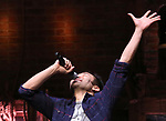"""Marc delaCruz during the Q & A before The Rockefeller Foundation and The Gilder Lehrman Institute of American History sponsored High School student #EduHam matinee performance of """"Hamilton"""" at the Richard Rodgers Theatre on 4/03/2019 in New York City."""