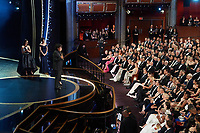 Bong Joon Ho accepts the Oscar® for International Feature Film during the live ABC Telecast of The 92nd Oscars® at the Dolby® Theatre in Hollywood, CA on Sunday, February 9, 2020.<br /> *Editorial Use Only*<br /> CAP/AMPAS<br /> Supplied by Capital Pictures