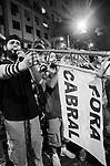 Manifestação da candelária até a cinelândia.Dia dos Professores. Manifestação reprimida de forma violenta pela polícia militar . Rio de Janeiro. Brasil. 2013.