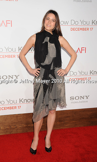 "LOS ANGELES, CA. - December 13: Natalie Fay  attends the ""How Do You Know"" Los Angeles Premiere at Regency Village Theatre on December 13, 2010 in Westwood, California."