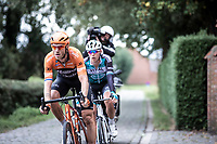 Lars Boom (NED/Roompot-Charles) leading the race on a cobbled section<br /> <br /> Antwerp Port Epic 2019 <br /> One Day Race: Antwerp > Antwerp 187km<br /> <br /> ©kramon