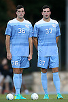 23 September 2016: Twin brothers North Carolina's Tucker Hume (36) and Walker Hume (37). The University of North Carolina Tar Heels hosted the Boston College Eagles in Chapel Hill, North Carolina in a 2016 NCAA Division I Men's Soccer match. UNC won the game 5-0.