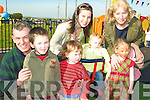 PLAYGROUND: At the official opening of the Ardfert Playground on Tuesday were: Diarmuid O'Connor, Liam Og, Fiachra and Maura O'Connor, Aine O'Connor, Maggie and Rose Forth.