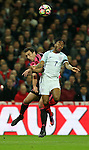 Raheem Sterling of England wins a high ball during the FIFA World Cup Qualifying Group F match at Wembley Stadium, London. Picture date: November 11th, 2016. Pic David Klein/Sportimage
