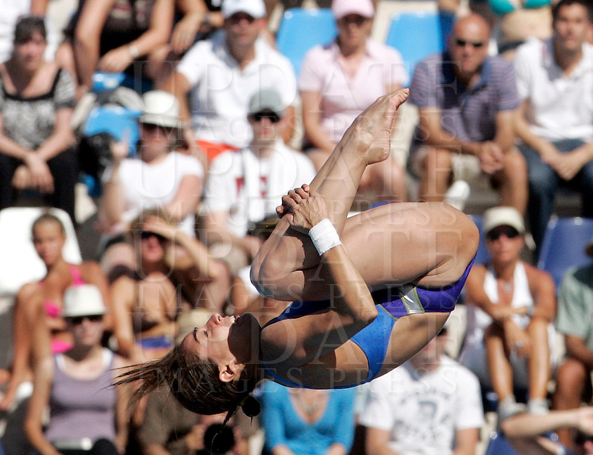 Mezico's Paola Espinosa competes in the women's 10m platform diving finals at the Swimming World Championships in Rome, 18 July 2009..UPDATE IMAGES PRESS/Riccardo De Luca