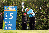 Thomas Bjorn of Denmark during the third round of the Irish Open on 19th of May 2007 at the Adare Manor Hotel & Golf Resort, Co. Limerick, Ireland. (Photo by Manus O'Reilly/NEWSFILE)