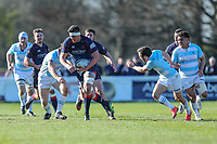 Match action during the Greene King IPA Championship match between London Scottish Football Club and Bedford Blues at Richmond Athletic Ground, Richmond, United Kingdom on 25 March 2017. Photo by David Horn / PRiME Media Images.
