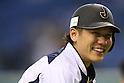 Hayato Sakamoto (JPN),<br /> NOVEMBER 15, 2014 - Baseball : <br /> 2014 All Star Series Game 3 between Japan 4-0 MLB All Stars <br /> at Tokyo Dome in Tokyo, Japan. <br /> (Photo by Shingo Ito/AFLO SPORT)[1195]