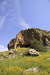 Israel, Lower Galilee, a prehistoric cave in Wadi Amud