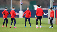 9th March 2020, Red Bull Arena, Leipzig, Germany; RB Leipzig press confefence and training ahead of their Champions League match versus Tottenham Hotspur on 10th March 2020; Marcel Sabitzer 7,  Hannes Wolf 19,  Timo Werner 11, Philipp Tschauner 33, and Kevin Kampl 44, RB Leipzig.