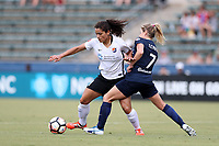 Cary, North Carolina  - Saturday July 01, 2017: Raquel Rodriguez and McCall Zerboni during a regular season National Women's Soccer League (NWSL) match between the North Carolina Courage and the Sky Blue FC at Sahlen's Stadium at WakeMed Soccer Park.