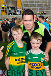 Kerry Fans at the Kerry v Kildare championship clash on Saturday evening at Fitzgerald stadium, from left: James Sheehan, Michael and Killian Kelly (Cahersiveen)