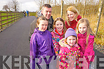 Pictured on the new walkway from the Killarney Desmene to the Killarney GOlf and Fishing club were Jenna, Aisling, Orla, Emma and Philip Coffey with Eimear Nolan, Muckross, Killarney.
