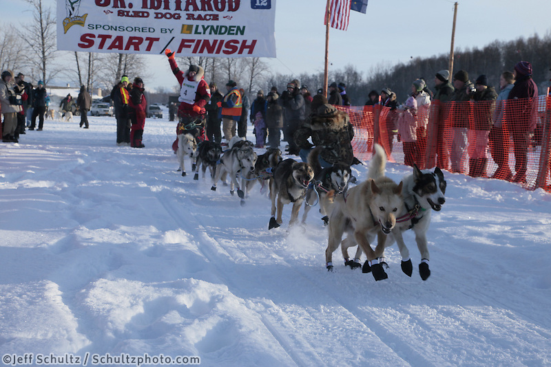Saturday February 25, 2012   at Knik Lake during the Junior Iditarod start.  Ben Lyon