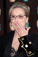 Meryl Streep<br /> at the 2017 BAFTA Film Awards held at The Royal Albert Hall, London.<br /> <br /> <br /> ©Ash Knotek  D3225  12/02/2017