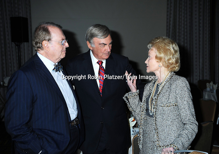 Charles Osgood, Sam Donaldson and Agnes Nixon attending The Library of American Broadcasting's 8th Annual Giants of Broadcasting Awards on October 6, 2010 at The Grand Hyatt Hotel in New York City. .photo by Robin Platzer/ Twin Images