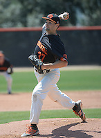(Photo by John Valenzuela, Freelance)<br /> <br /> #37 Nolan Watson. The Occidental College baseball team defeats Caltech to claim the SCIAC Championships on Sunday, May 1, 2016 at Oxy's Anderson Field.<br /> <br /> (Photo by John Valenzuela, Freelance)