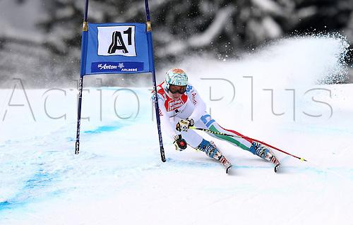 13.01.2013. St Anton, Austria.  Ski Alpine FIS World Cup Super G for women Picture shows Francesca Marsaglia ITA