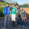 Robert Paz and family after winning aboard Extra Hope at Delaware Park on 10/3/15
